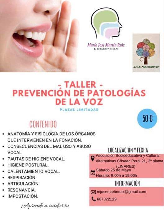 TALLER – PREVENCIÓN DE PATOLOGÍAS DE LA VOZ